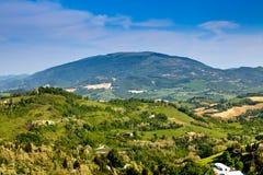 природа ландшафта Италии Стоковые Изображения RF