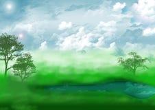 природа ландшафта озера Стоковые Фото