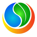 природа логоса eco иллюстрация вектора