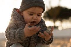 Природа малыша исследуя Стоковое Изображение