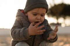 Природа малыша исследуя Стоковое фото RF