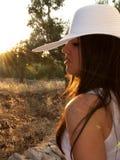 природа ослабляет женщину Стоковое Изображение RF