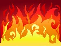 природа пламени предпосылки горячая материальная Стоковая Фотография RF