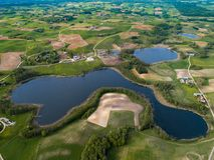 Природа сверху - леса и озера стоковая фотография