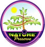 природа эмблемы сохраняя вал Стоковая Фотография RF