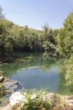 Природный парк окружая водопады Kravica Стоковое Изображение RF