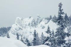 Природный парк Taganai с взглядом гор и леса, Ural, России стоковая фотография