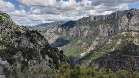 Природный парк Verdon на юге Франции, Европы стоковое изображение
