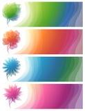 природа абстрактных знамен цветастая Стоковая Фотография RF