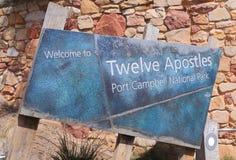 Природа Австралии 12 апостолов Стоковые Изображения