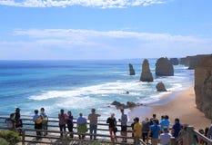 Природа Австралии 12 апостолов Стоковое Изображение RF
