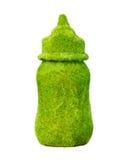 Природа бутылки молока, на белизне. Стоковая Фотография RF