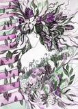 Природа в женской маскировке Стоковые Изображения RF