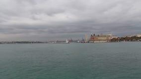Природа, город Стамбула, декабрь 2016, Турция сток-видео