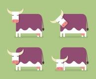 природа горы лужка ландшафта коровы принципиальной схемы Стоковые Изображения