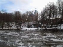 Природа, заводь зимы, зима, красота стоковое изображение
