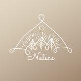 Природа значка Стоковые Фото
