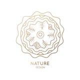 Природа значка Стоковые Изображения