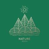 Природа значка Стоковое Изображение