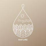 Природа значка Стоковые Изображения RF