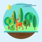 природа иллюстрации экологичности принципиальной схемы сохраняет Стоковые Изображения RF