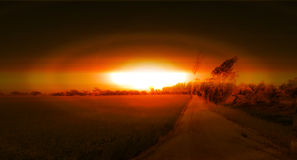 Природа и ядерный дизайн иллюстрации концепции стоковые фотографии rf