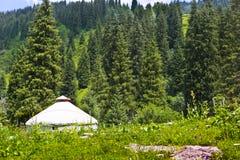 Природа Казахстан yurt ландшафта горы стоковые изображения