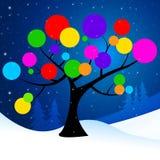 Природа кругов значит хлопья и циркуляр снега Стоковое Изображение