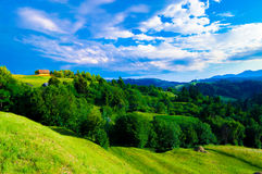 Природа к деревне Стоковое Изображение