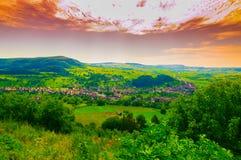 Природа к деревне Стоковое фото RF