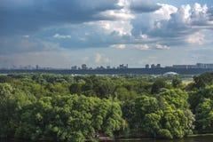 Природа Москвы, облака, небо Стоковое Изображение
