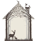 Природа нашего дома иллюстрация штока