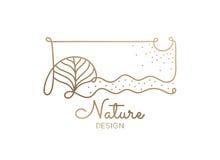 Природа логотипа Стоковые Фото