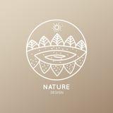 Природа логотипа Стоковые Изображения
