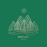 Природа логотипа Стоковое фото RF