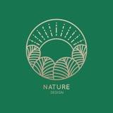 Природа логотипа Стоковая Фотография