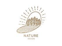 Природа логотипа Стоковое Изображение