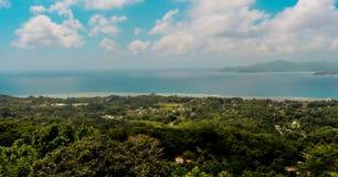 природа Сейшельские островы ландшафта la острова digue предпосылки Стоковое фото RF