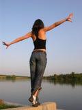 природа середины гимнастики Стоковая Фотография