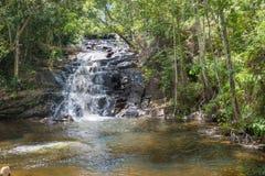 Природа с водопадом и поток в Itacare стоковая фотография
