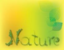 Природа текста с вектором листьев Стоковая Фотография