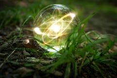 Природа хрустального шара атома Стоковые Изображения RF