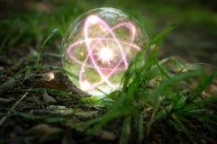 Природа хрустального шара атома Стоковая Фотография