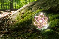 Природа хрустального шара атома Стоковое фото RF