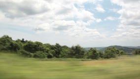 Природа через окно автомобиля