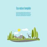 Природа 02 Eco Иллюстрация штока