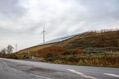 Природная энергия на холме стоковое фото rf