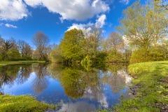 Природный парк весеннего времени стоковое изображение