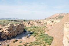 Природный парк Bardenas Reales, Наварра, Испания стоковое изображение rf