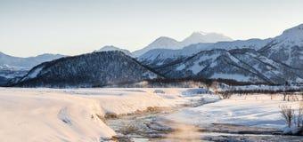 Природный парк Nalychevo на восходе солнца стоковая фотография rf